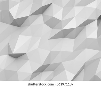 3D render Abstract triangle shaped pattern background