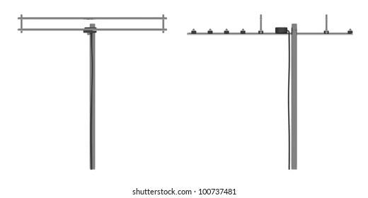 3d render of aerial equipments