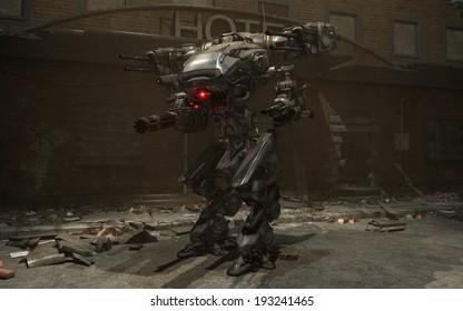 3d render of a battle mech