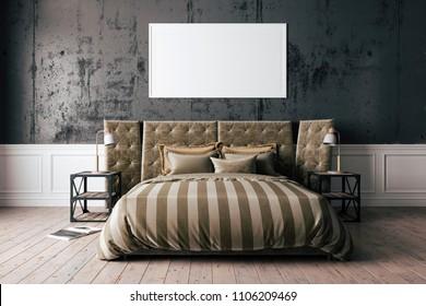 3d render of beautiful modern bedroom