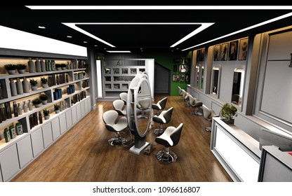 3d render of beauty shop