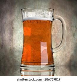 3d render of beer in glass