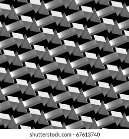 3D render bitmap - arrow ornamental structure