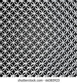 3D render bitmap - floral ornamental structure