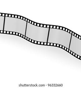 3d render of blank film