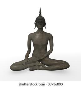 3d render of buddha statue