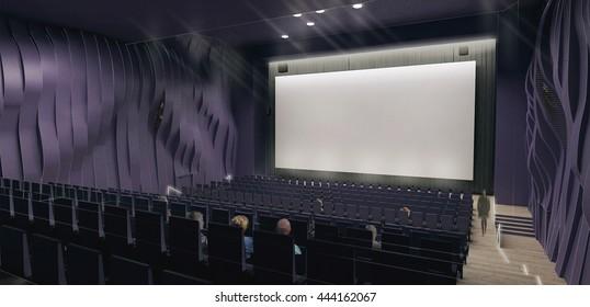 3d render of a cinema hall