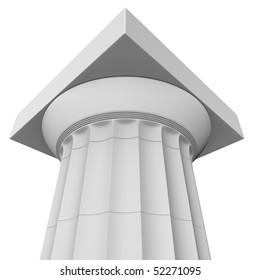 3d render of a classic Greek Doric column