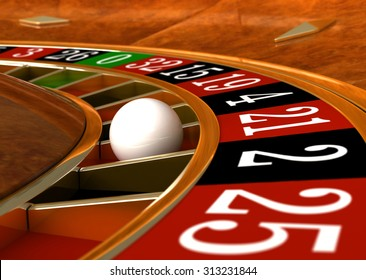 3d render of closeup detail from casino roulette