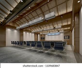 3d render of conferance room