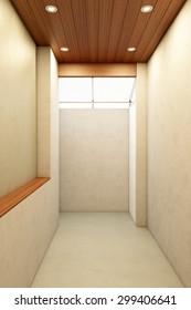 3D render of contemporary loft empty room