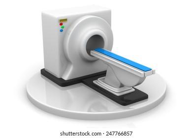 3d render of CT Scanner