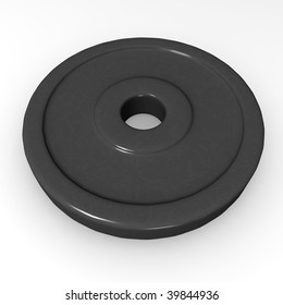 3d render of dumbell weight