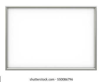 3d render of empty frame with place for your text or image isolated over white background