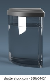 3d render of fish aquarium
