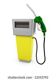 3D render of a fuel pump