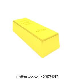 3d render of gold bar