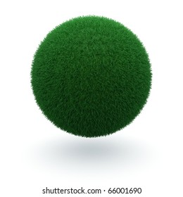 3d render of a green earth how it should be