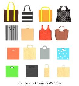 3d render of hand bags
