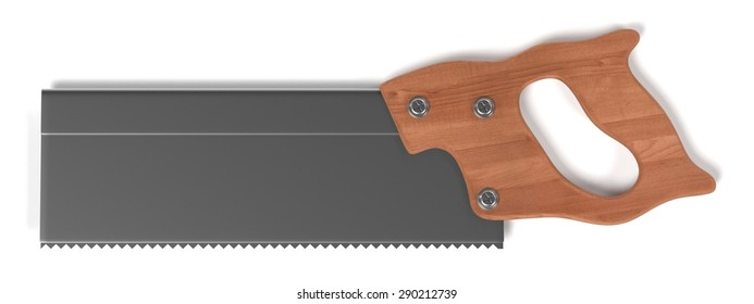 3d render of hand saw