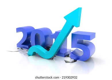 3d render of Happy new year 2015