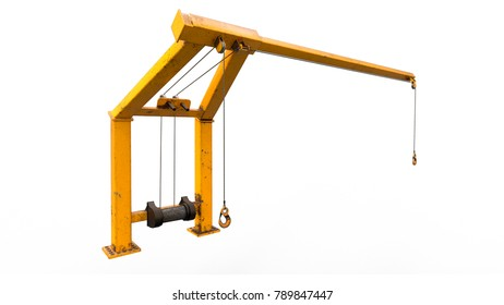 3D render of a hoist