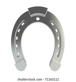 3d render of horseshoe on white background