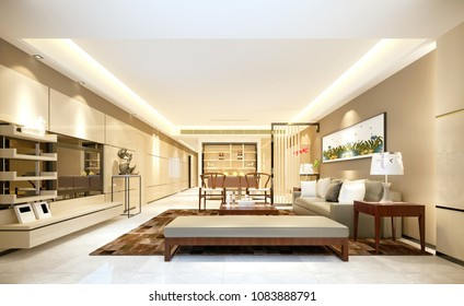 3d render of house interior