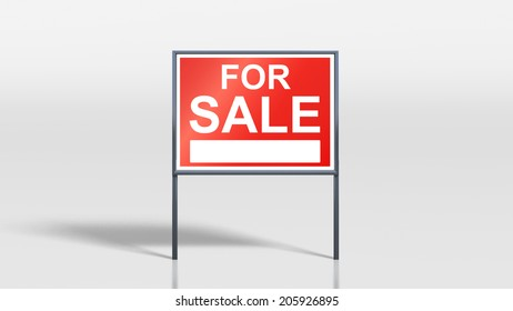 3d render of house signage stands for sale