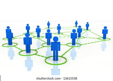 3D Render Human Connections