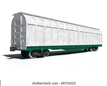 3d render illustration isolated on white: Perspective view of the modern white universal carriage