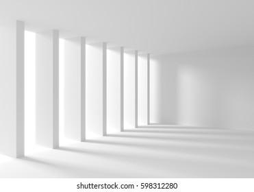 3d render image of Modern white Interior