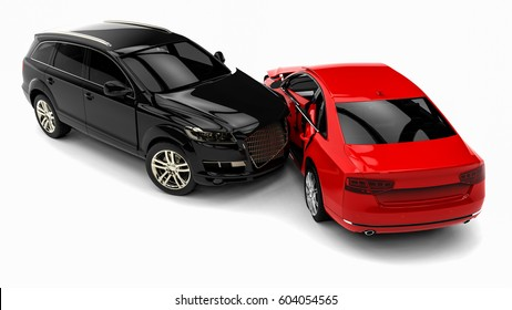 3D render image representing an car accident / car accident