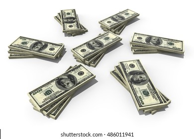 3D render image representing a stack of money / Stack of money