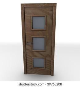 3d render of interior door