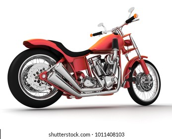 3d render isolate on white background motorcycle.