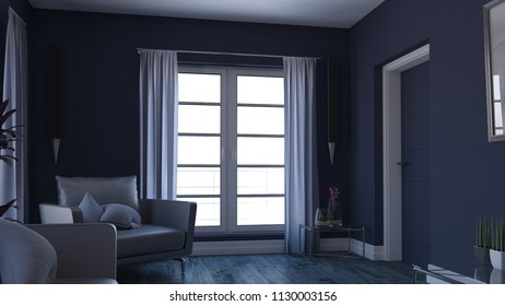 3D render of a Living Room Interior