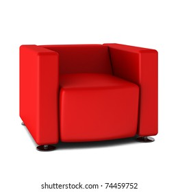 3d render of modern armchair