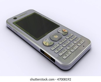 3d render modern cell phone