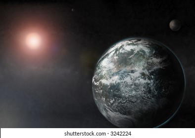 3D Render Planets