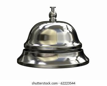 3d render of Reception bell