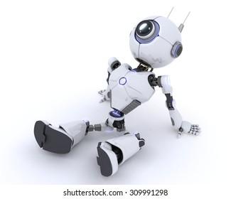 3D render of a Robot Relaxing
