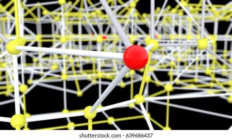 3d render spheres connection