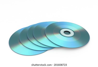 3D render of stack storage medium - cd rom