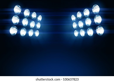 3D render of Stadium lights with glare.
