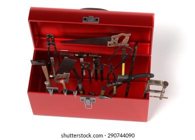 3d render of tool box