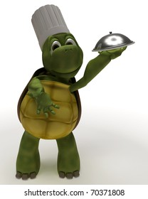 3D Render of a Tortoise Caricature as a Chef