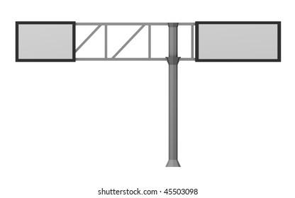 3d render of traffic sign