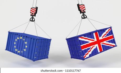 3D Render of UK Trade Import Tarrifs