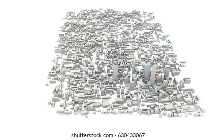 3d render viewed from the air